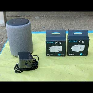 Amazon Echo Plus (2nd Gen) with Amazon Smart Plugs